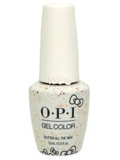 Opi GelColor New Gel Nail Polish Soak-Off Hp L12- Glitter All The Way