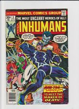 INHUMANS (vol.1) # 9 MARVEL COMICS EN VO 1977 Medusa Black Bolt BY JACK KIRBY !!