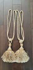 Large Gold Tassle Curtain Tie Backs -  Good conditon