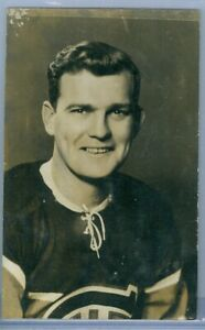 1940's B&W Portrait Montreal Canadiens Habs Postcard - Goalie BILL DURNAN