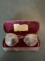 Antique 12K Gold Filled Spectacle Eyeglasses with Case