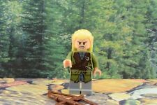 Lego Mini Figure Lord of the Rings Legolas with Bow and Arrow 2-Sided Head 9473