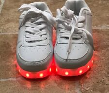 New Boys Neon Sneaker Brand Light Up Shoes Size 3