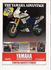 Yamaha XTZ750 Super Tenere classic period motorcycle advert  1989