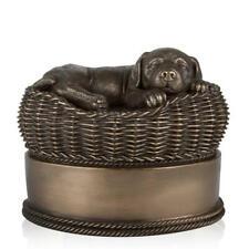Perfect Memorials Large Bronze Dog in Basket Cremation Urn