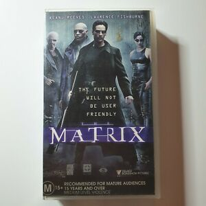 The Matrix   VHS Movie   Keanu Reeves, Carrie-Anne Moss   1999   Sci-Fi/Action