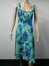 NEW - Connected Apparel - Size 10 - Sleeveless Rouched Bust Dress Multicolour