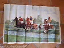 AFFICHE - 140617- Illustration d'une course de chevaux cheval equitation