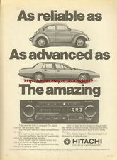 Hitachi DX-Local Radio Cassette 1979 Magazine Advert #1698