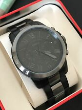 Fossil Original FS5269 Mens Grant Sport Black Gray Stainless Chronograph Watch