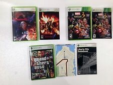 XBOX 360 game lot--DEVIL MAY CRY 4, MARVEL vs CAPCOM 3, GTA 4, cases and Manuals