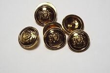 8pc 20mm Old Gold German Russian Inspired Metal Blazer Coat Cardigan Button 2852