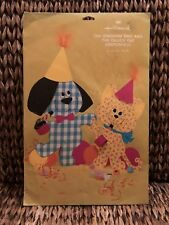 New Open Package Vintage Hallmark Gingham Dog & Calico Cat Centerpiece Party