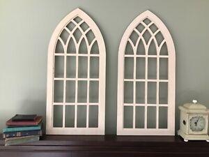 Arch window frame, FREE Ship, Farmhouse Decor, Cathedral Window, Wall Decor ONE
