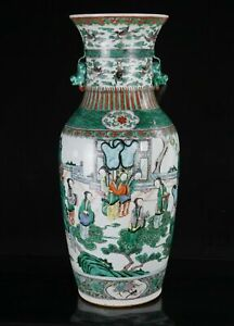 Chinese antique  famille Verte monumental vase  Early 19th century