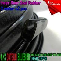 For Nissan Datsun Bluebird 310 410 411 510 610 710 810 INNER DOOR SEAL RUBBER x2