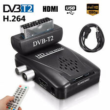 Full HD 1080P H.264 MPEG4 Digital Scart DVB-T2 Receiver TV BOX USB SD HDMI IR