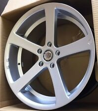 "19""apollo 5 silver Alloy Wheels bmw e90/e46 3 series wider with tyres"