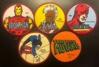 1984 Marvel Super Heroes Patches Lot Iron Man Daredevil Kitty Pryde Storm MoreJ1