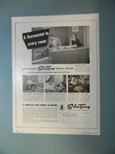 1954 IRON FIREMAN MFG. SELECTEMP CENTRAL HEATING EQUIPMENT SALES ART AD
