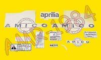 SERIE ADHESIVOS CALCOMANÍAS EMBLEMAS APRILIA AMICO 50 AP8211954