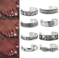 Toe Ring Opening Adjustable Antique Silver Foot Beach Jewellery 8 Style