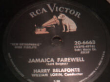 CALYPSO 78 HARRY BELAFONTE jamaica farewell/once was RCA NIPPER PERRYS RECORDS