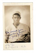 1936 Orig  Dom Baseball Signed Photo Postcard Negro League Player JAVIER PEREZ