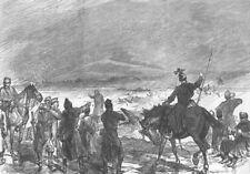BOSNIA. Breaking up Austrian Military Bridge, Doboj, antique print, 1878