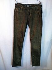 Dream Out Loud Pants Sz 11 Gold Metallic Skinny Leg New 160419