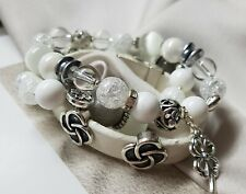 x3 White Ladies Bracelets