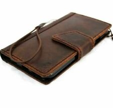 genuine natural leather Case for apple iphone 6 book wallet skin cover magnet uk