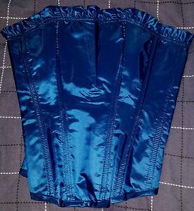 LISA COURT ROYAL STUNNING METALLIC BLUE  CORSET / BASQUE, Size 10