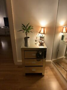 Venetian Mirrored Compact 3 Drawer Chest - Bedroom Furniture