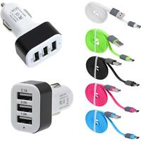 Quick Charge Type C USB 3 Ports Car Charger + Cable For Nexus 6P / 5X OnePlus 2