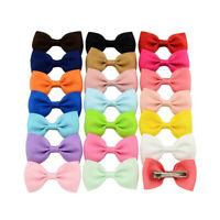 "10 Pairs 2"" Inch Baby Girls kids Ribbon Hair clip Bows clips cute bow School"