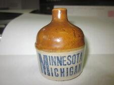 Vintage Red Wing Miniature Football Jug Minnesota vs Michigan