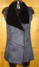 Polyester Popper Patternless Waistcoats for Women