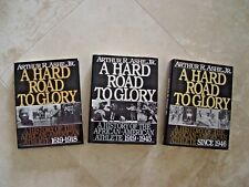 3 HARD ROAD TO GLORY HISTORY AFRICAN AMERICAN ATHLETE BOOKS ASHE BOOK