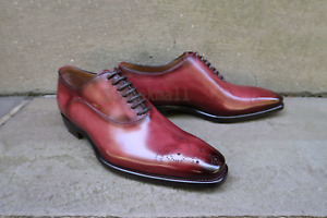 Handmade Men's Leather New two tone oxfords custom premium quality shoes-460
