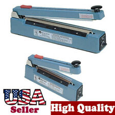 """8"""" Impulse Hand Sealer with Cutter Heat Seal Plastic 10mm Flat Wire Slide to Cut"""