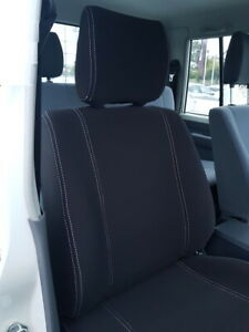Fits Toyota Landcruiser 70 Series Front Rear Neoprene Seat Cover Workmate GX GXL