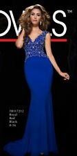 Tony Bowls Prom Dress Party  Evening  Long Sexy Color Royal  Size 8