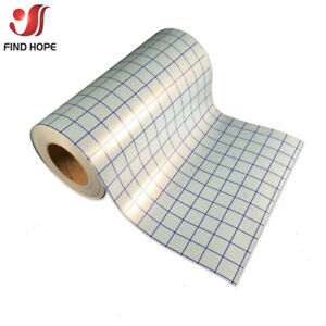 Adhesive Vinyl Transfer Paper Tape Roll Clear w/Blue Alignment Grid 30*100cm DIY
