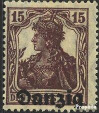 Danzig Mi.-Aantal.: 3 met Fold 1920 Germania-Afdrukken