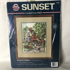 """New ListingNew - Dimensions Sunset """"Antique Charm�Counted Cross Stitch Kit Rare 1995 13608"""