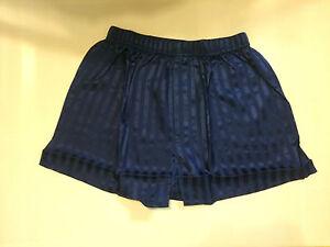 Women Lady Men Unisex 100% Silk Boxer Bottom Lingerie Sleepwear Nightwear