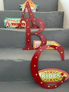 """Vintage 12"""" Steel Traditional Circus Fairground Alphabet Letters A - Z"""