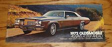 Original 1972 Oldsmobile Full Line Sales Brochure 72 Toronado Cutlass