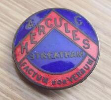 VINTAGE 1930's HERCULES ATHLETIC CLUB ENAMEL BADGE - STREATHAM